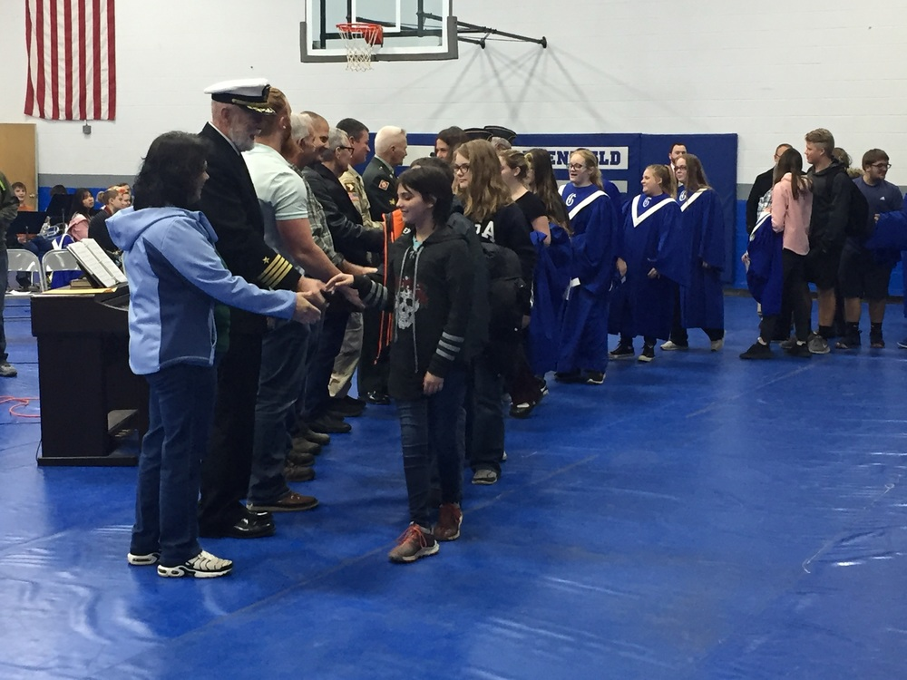 Greenfield Holds Veterans Day Assembly