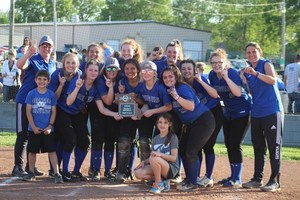 Lady Wildcats Claim School's First Softball District Title