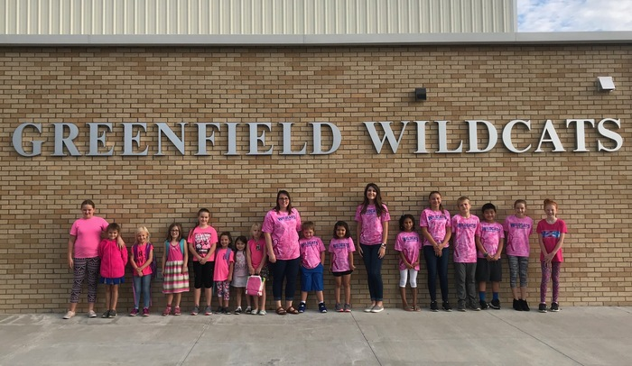 Pink Out Day at Greenfield Elementary