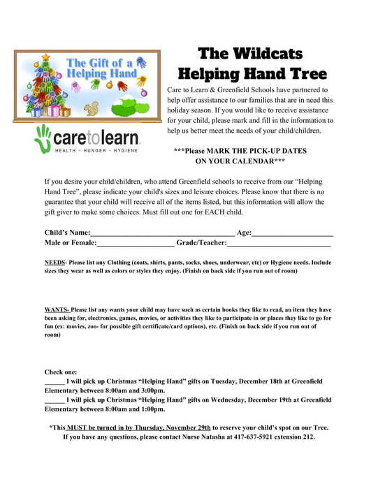 Helping Hand Tree