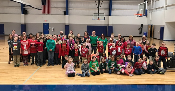Some of our amazing students and staff supporting Holiday Spirit