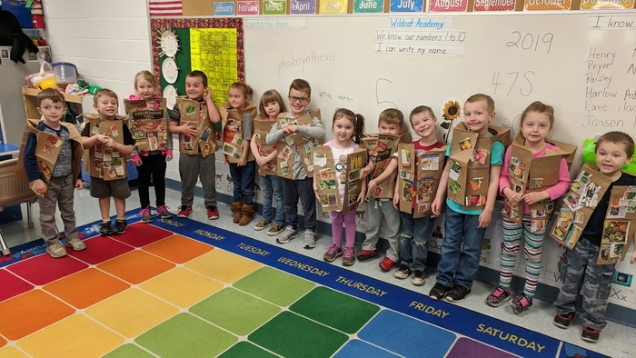 Preschool vegetable vests