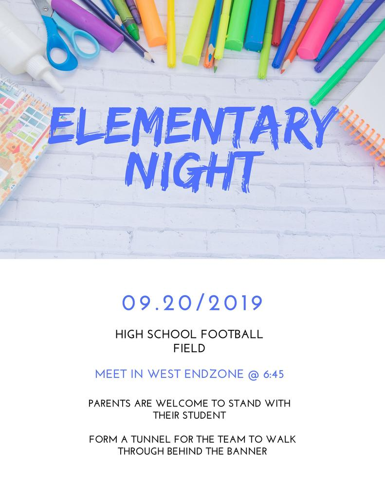 Football Elementary Night