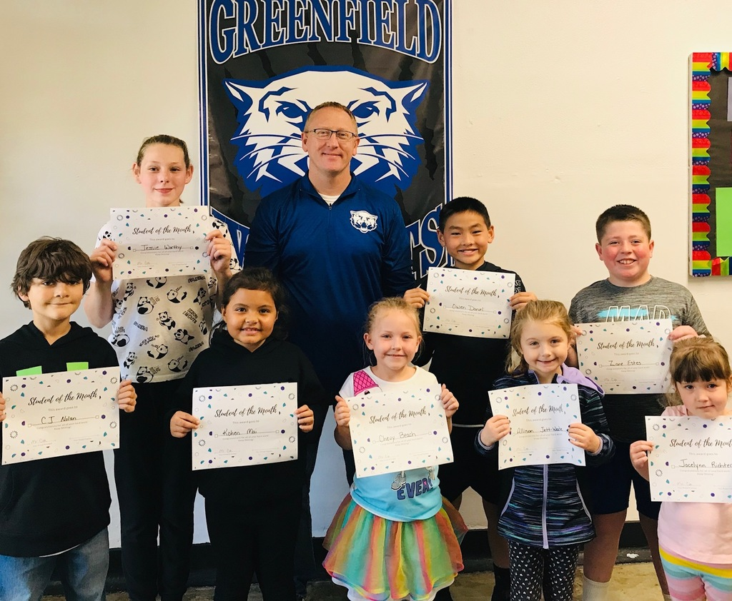 September Students of the Month Greenfield Elementary
