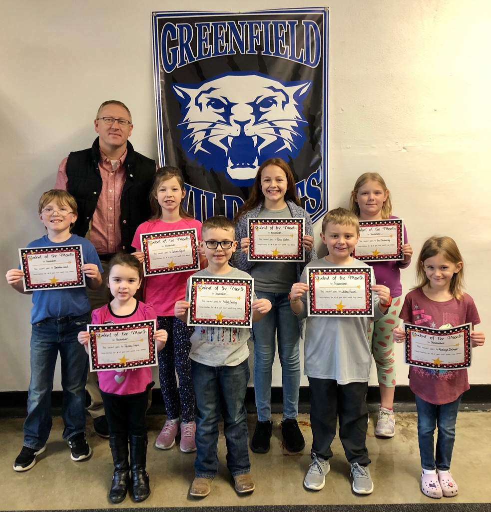 Students of the Month Greenfield Elementary